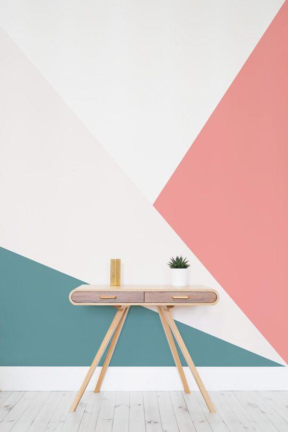 geometric accent walls