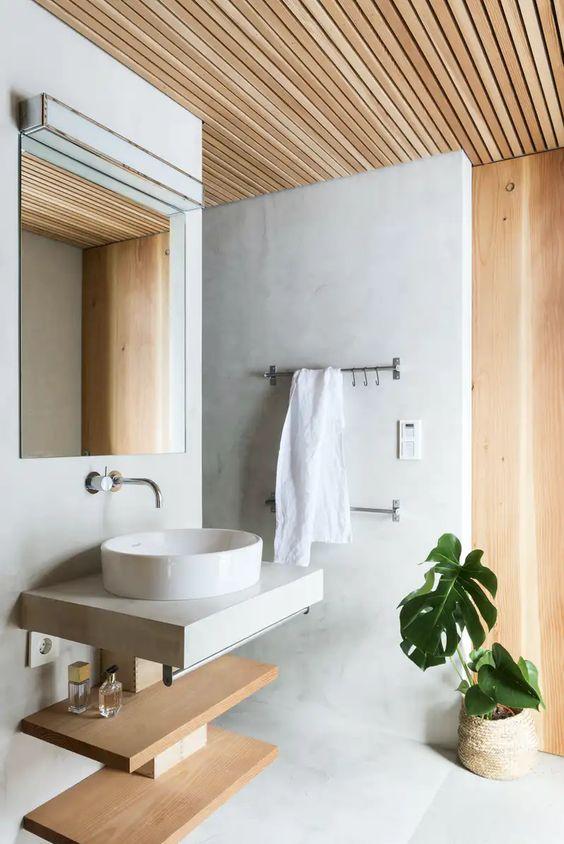 japandi bathroom decors