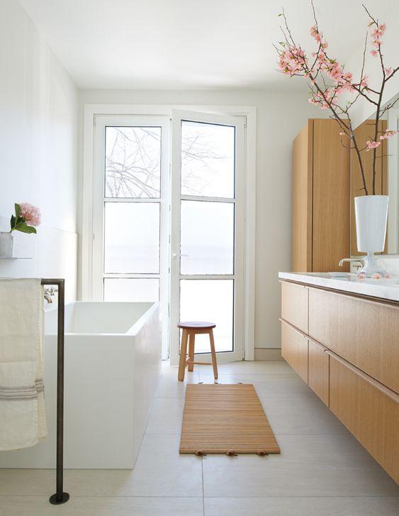 japandi bathroom furniture