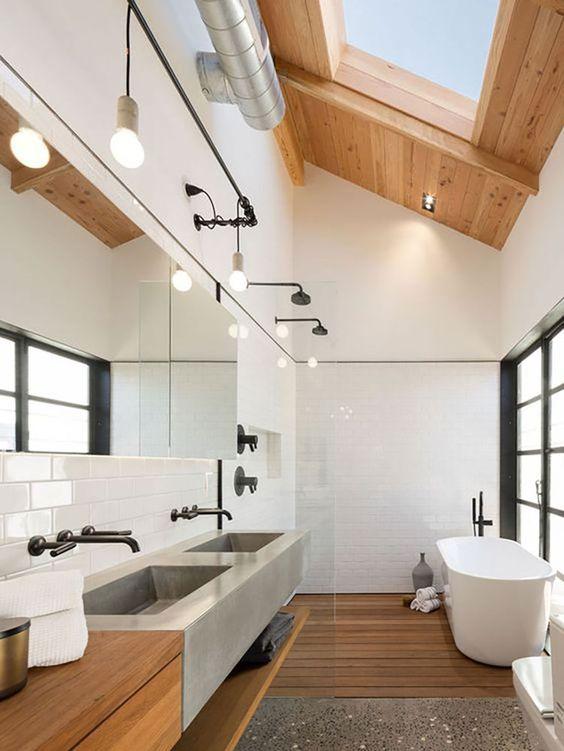 bright japandi bathroom