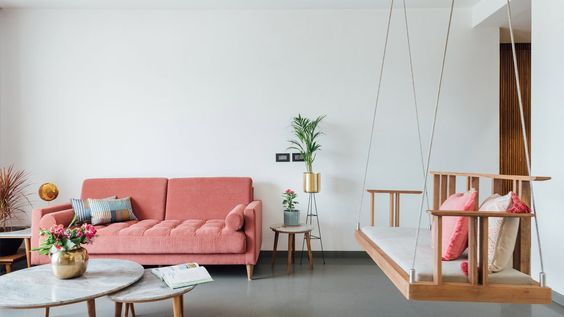 pink japandi home design