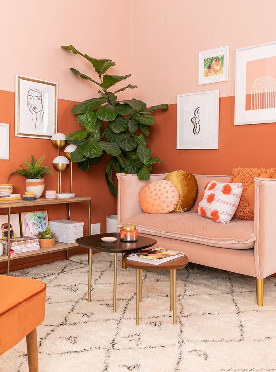 orange room decors
