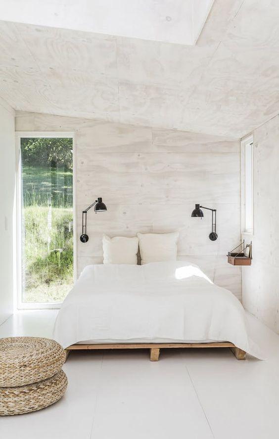 white simple bedroom nuances