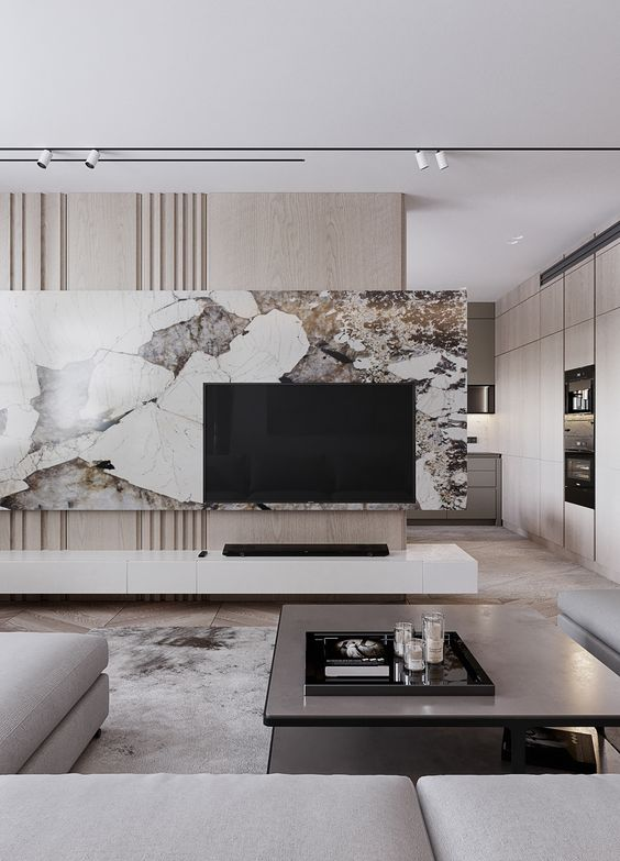 marble accent walls