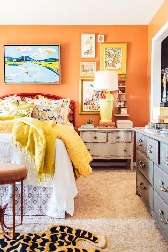 orange room decor