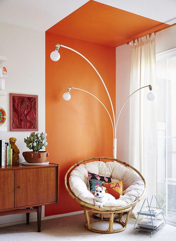 cheerful corner room