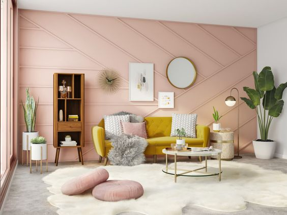 fresh pink room decoration