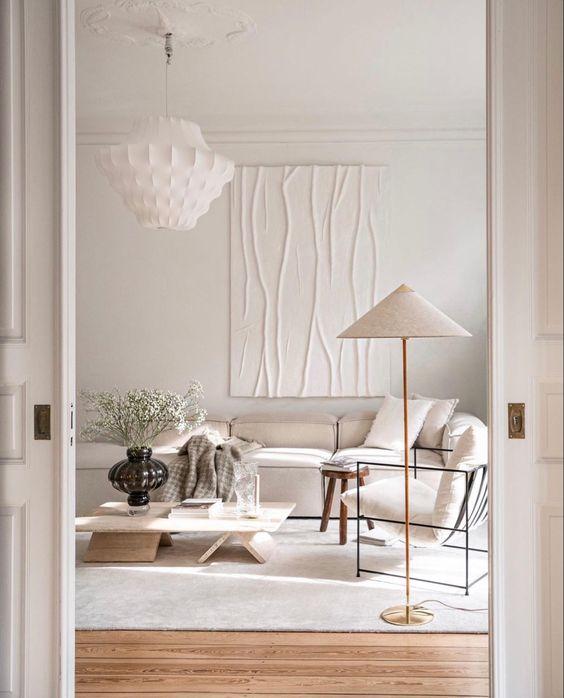 white fresh small living room