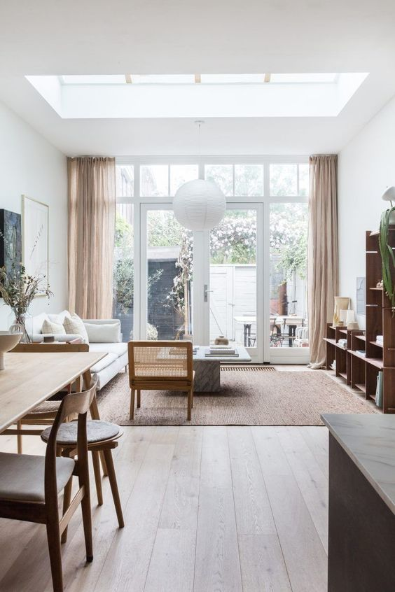bright and fresh small living room