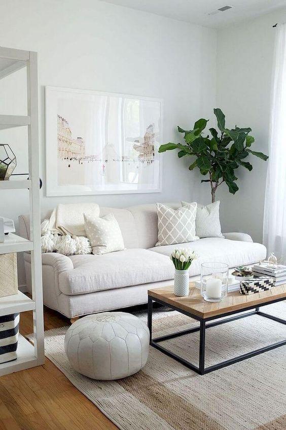 white small living room