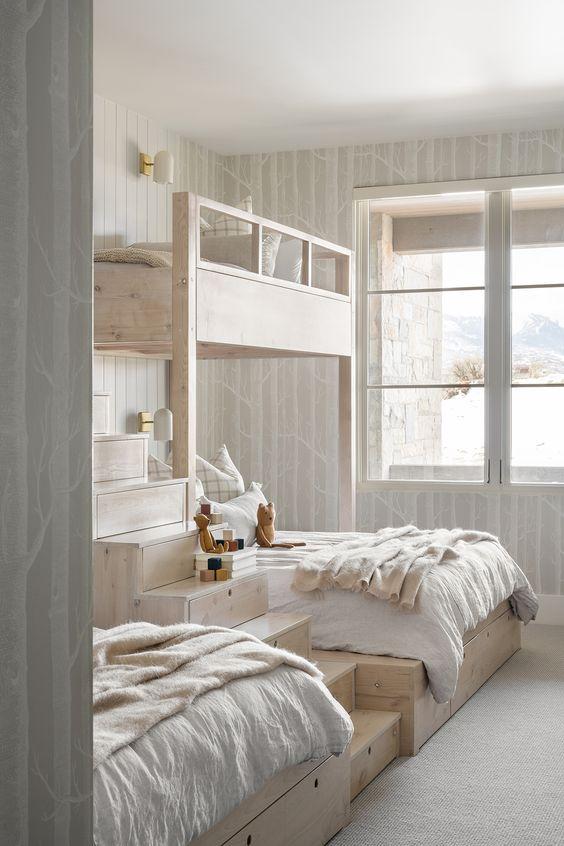 grey kid bedroom
