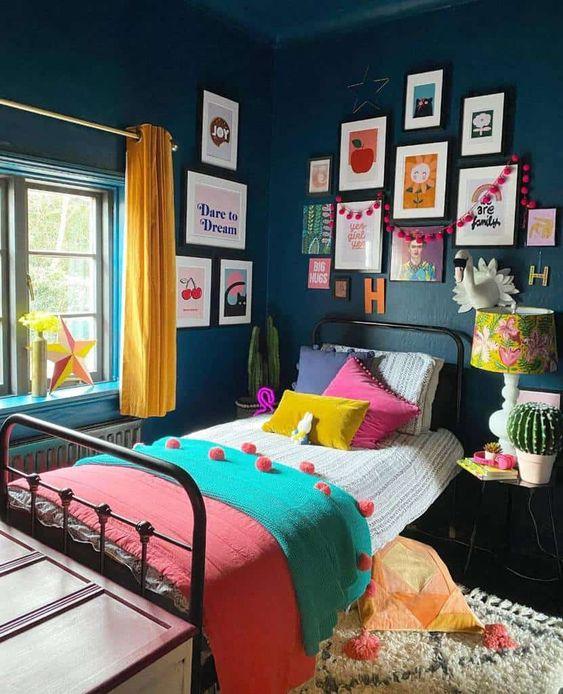 contrast bedroom ideas