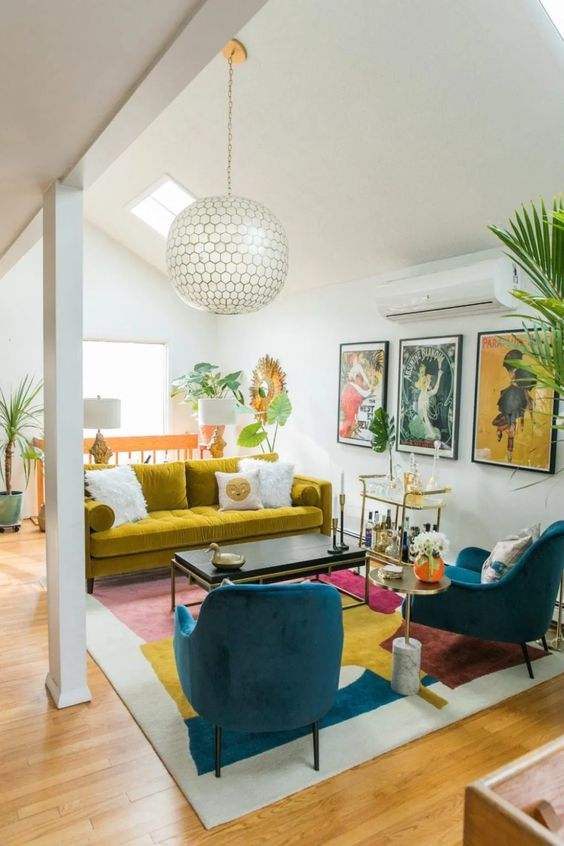 colorful small living room