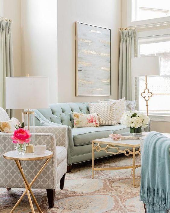 soft small living room decors