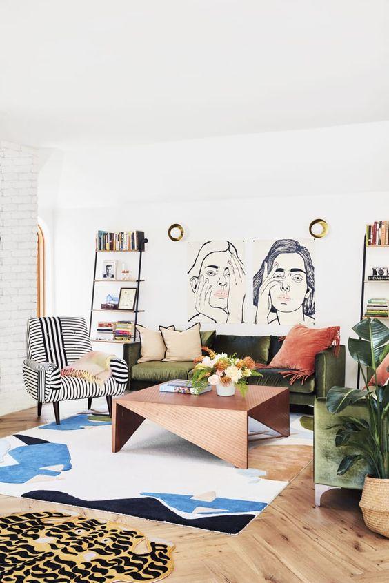 fresh small living room art wall