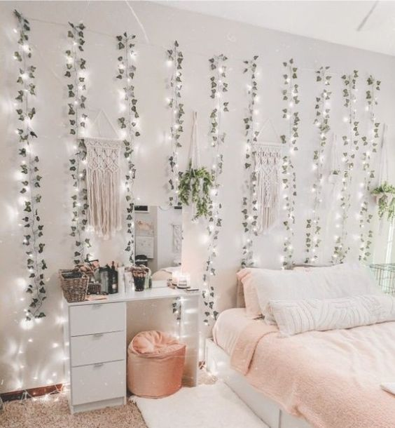 string light and vines decoration