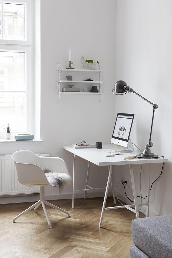 minimalist small workspace