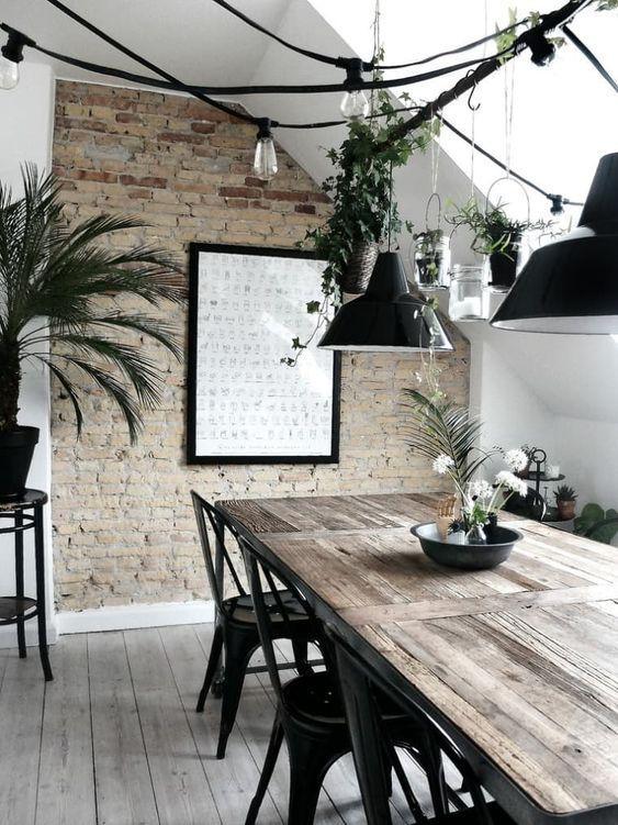 fresh industrial dining room design