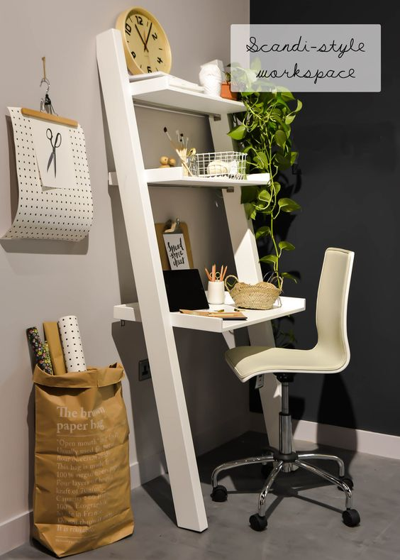 attractive small workspace