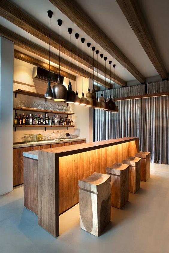 warm home bar