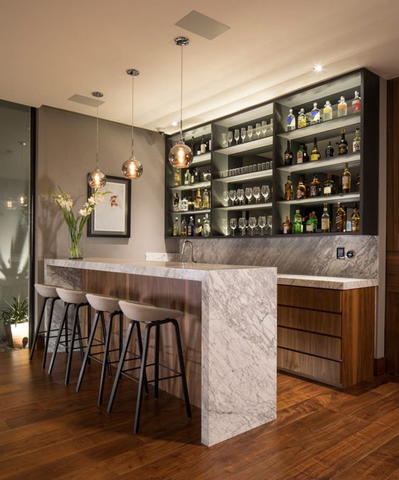 classy home bar