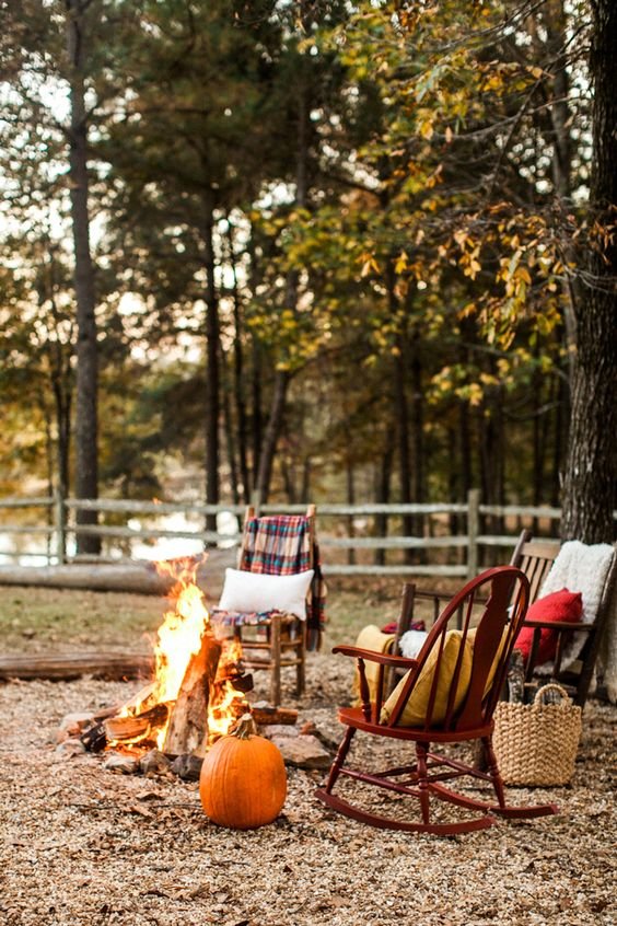 cozy outdoor space for fall