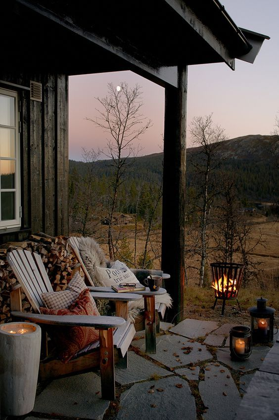 comfortable outdoor space for fall