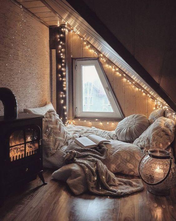 attic reading nook