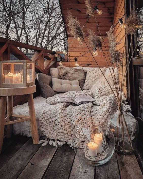cozy patio for fall