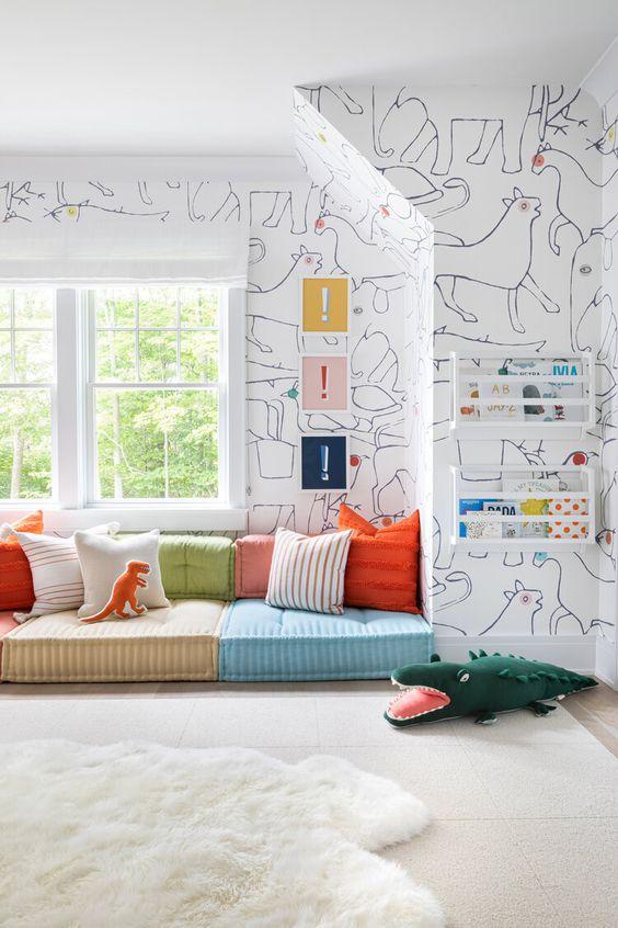 comfortable playroom