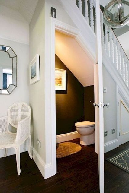utilizing space under the stairs decors