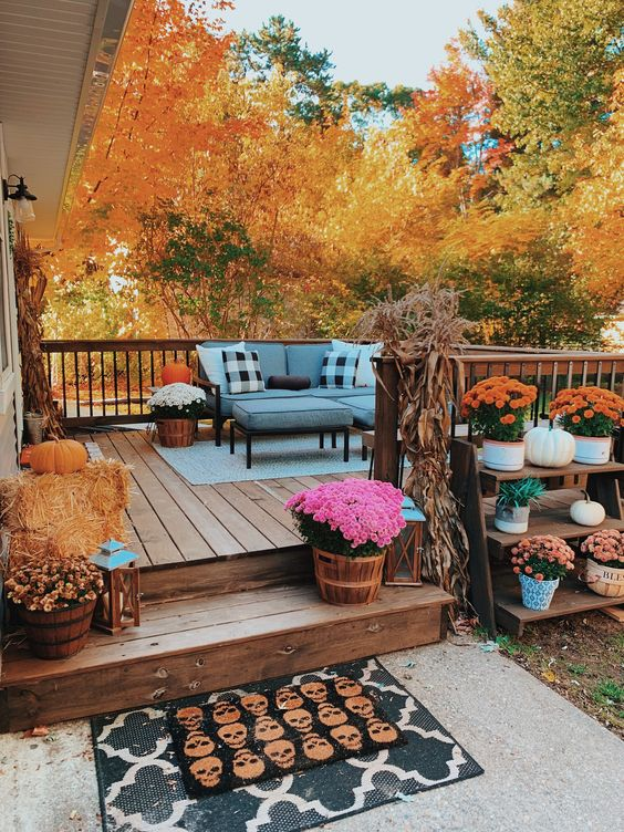 cozy outdoor for fall