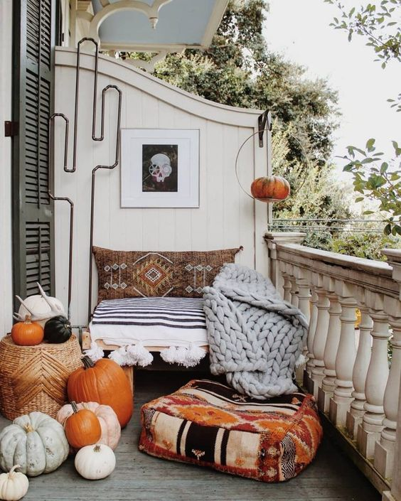 outdoor space for fall decors