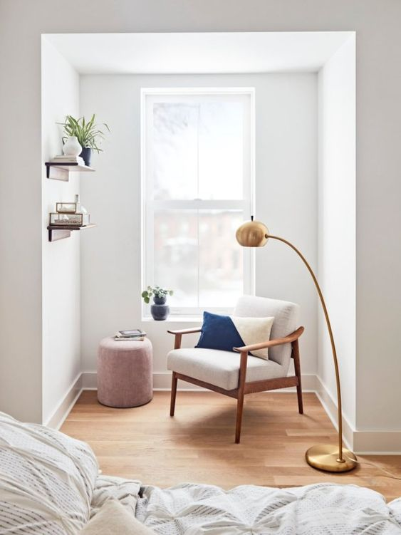 simple reading nook