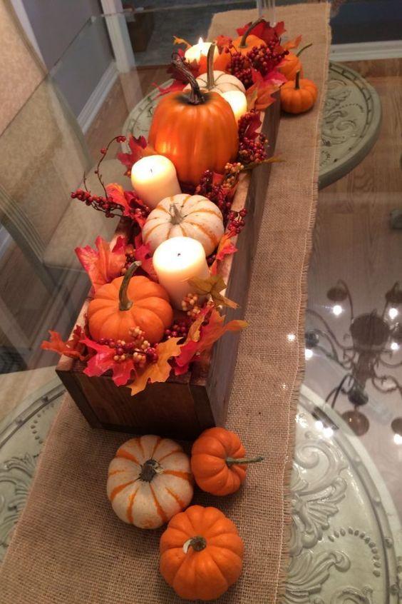 pumpkin candles decor